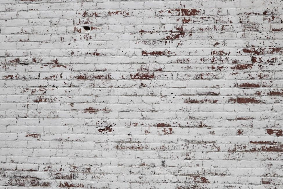 White german smear on red brick